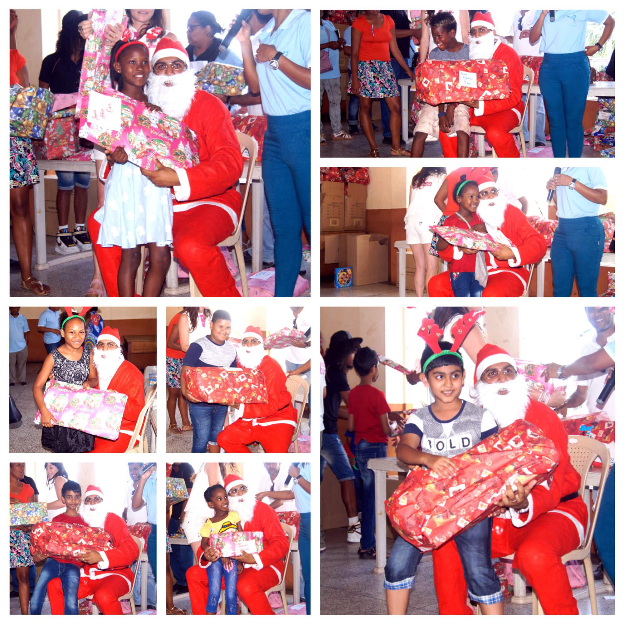 Les enfants étaient tous ravis de voir le Père Noël